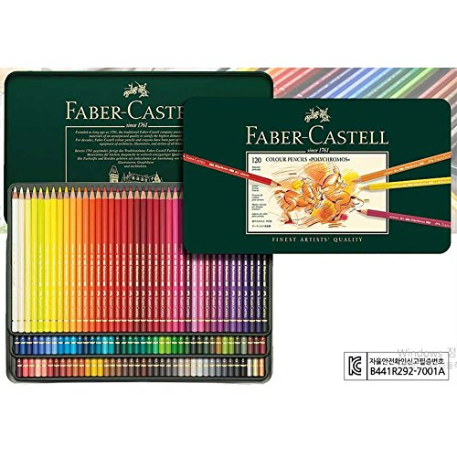 [Faber-Castell] Polychromos Color Pencils Metal Tin Set of 120 For Professionals + Free Gift Set by Faber Castell