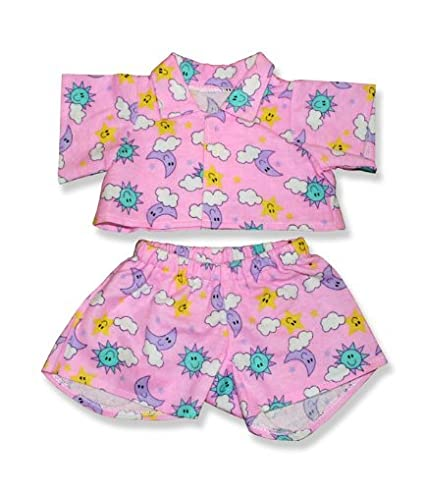 Amazon Pink PJ's Outfit Teddy Bear Clothes Fit 40 40 Build Enchanting Build A Bear Clothes Patterns