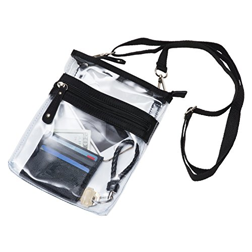 Deluxe Clear Cross Body Bag Multi Pocket Small Nfl