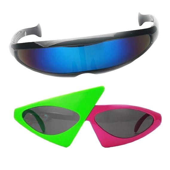 P Prettyia Set de Gafas de Sol Cyclops Futurista Gafas de ...