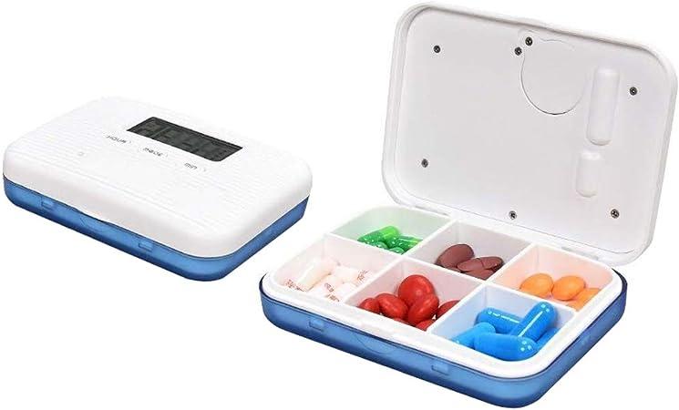 LinHut Caja de Pastillas Inteligente 5 Multi-Alarmas con Temporizador Pastillero Electrónico para Recordatorio de Tabletas de Medicina a Mayores Pacientes: Amazon.es: Hogar
