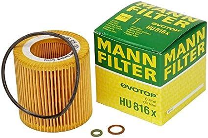 Mann-Filter HU 816 x sin metal Filtro de aceite (Pack de 3): Amazon.es: Coche y moto