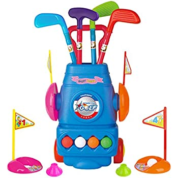Amazon.com: Toy Life Kids Golf Clubs | Juego de golf para ...