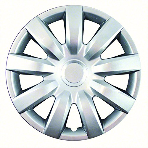 Aftermarket Wheel Covers; 15 Inch; Silver Finish; Abs; 9 Spoke;