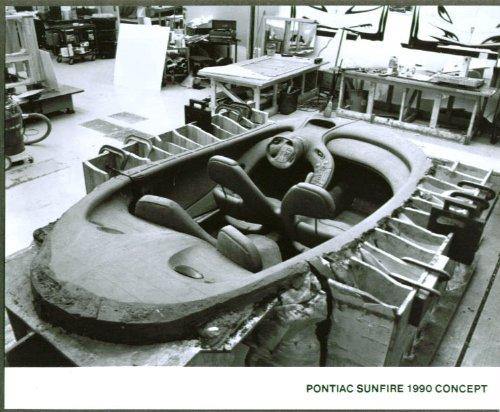 1990 Pontiac Sunfire Concept Car 8x10 clay interior