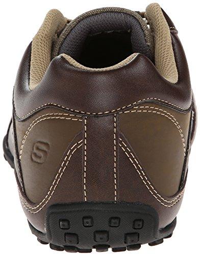 Skechers USA Men's Citywalk Malton Oxford Sneaker,Brown,7.5 M US