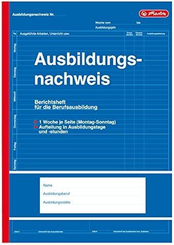 5x Ausbildungsnachweis / Berichtsheft / DIN A4 / 28 Blatt