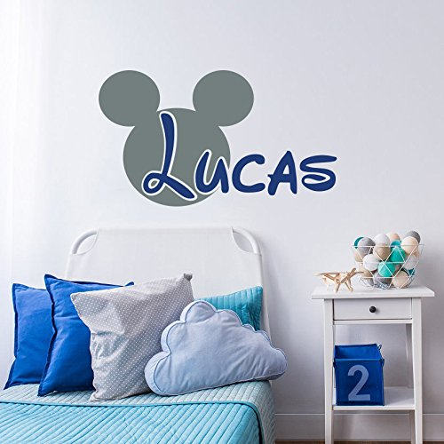 Mickey Mouse Wall Decal Name Boy Nursery Baby Boys Room Decor Personalized Name Wall Decor Children  sc 1 st  Amazon.com : mickey mouse vinyl wall decal - www.pureclipart.com