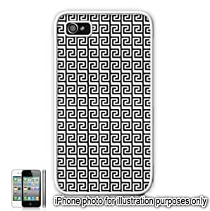 Black Tribal Aztec Mayan Pattern Apple iPhone 4 4S Case Cover Skin White