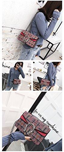 Sac Red mode coréenne femmes Sac carreaux diagonal à bandoulière bandoulière à de à pour ORwH1Yq
