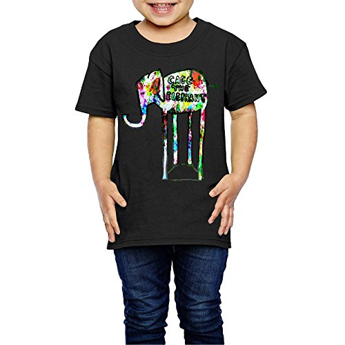 Gilles Kid's Cage The Elephant Funny T Shirts for Girls & Boys Black 2 -