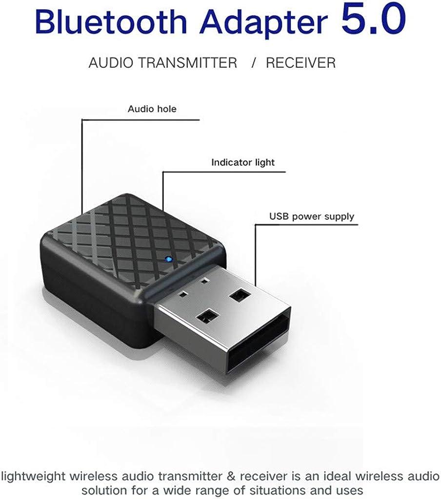Slibrat Bluetooth Transmisor Receptor Musical inal/ámbrico 5.0 Llave del Adaptador USB para el Coche//PC//TV