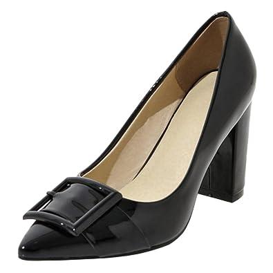 COOLCEPT Damen Mode Ohne Verschluss Pumps Stiletto Heel Black Size 33 Asian X0H0sG