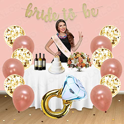 Rose Gold Bridal Shower Decorations 31PCS bachelorette gifts