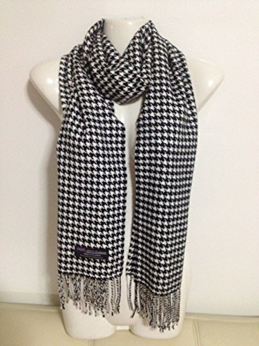 100-cashmere-scarf-houndstooth-design-black-white-made-in-scotland-super-soft