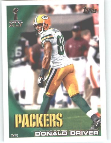 2010 Topps 2011 Super Bowl XLV Champions Green Bay Packers Football Card #4 Donald Driver - NFL Trading ()
