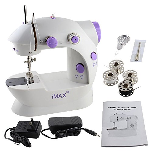 Imax FHSM-202 Mini 2-Speed Sewing Machine With Foot Pedal, Purple, 9.2 x 8.4 x 5.4-Inch