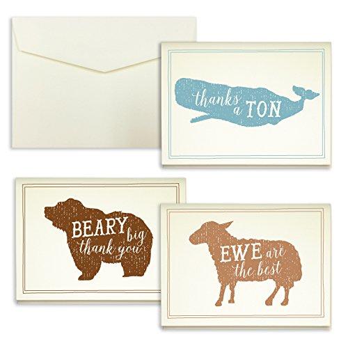 Animal Pun Thank You Cards product image