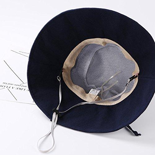 HAPEE Womens Sun Hat,Both Sides wear,UPF 50+ Beach Hat Foldable Wide Brim by HAPEE (Image #7)