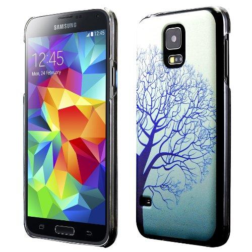 Galaxy S5 Case, Cruzerlite Print Cases (PC Case) Compatible with Samsung Galaxy S5 - Blue Tree (Gs5 Case Custom)