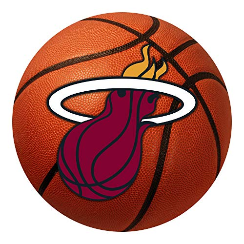 FANMATS NBA Miami Heat Nylon Face Basketball Rug