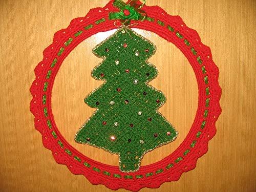 Fuori Porta Uncinetto Albero Natale Amazonit Handmade