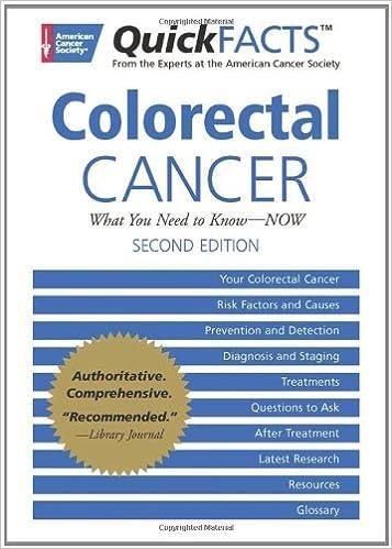 Quickfacts Colon Cancer American Cancer Society 9781604430073 Amazon Com Books