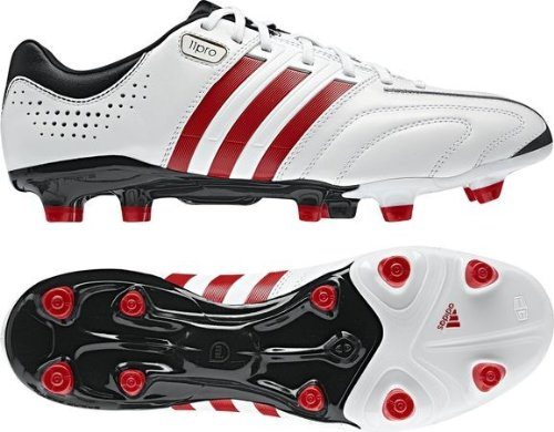Adidas adipure 11PRO Q23805 TRX Firm Ground-Scarpe da calcio, in pelle, colore: bianco, Misura: 13