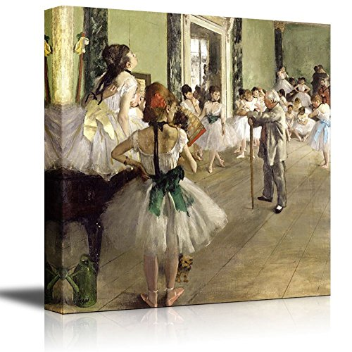The Ballet Class by Edgar Degas - Canvas Print Wall Art Famous Painting Reproduction (24