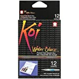 Koi Watercolor Pocket Field Sketch Box - 12 Colors-Assorted Colors