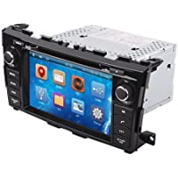 OUKU8 2 Din In-dash Touch Screen Car DVD Player for Nissan Teana/altima 2013-2014 with gps,radio,rds,iPod,bluetooth,atv with Free 4GB GPS Map Card+Free US&Canada Map
