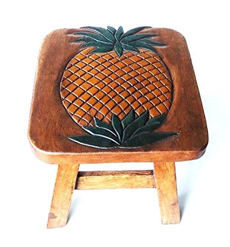 Pineapple Design Hand Carved Acacia Hardwood Decorative Short Stool by Sea Island (Image #1)