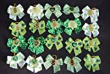 30 Dog Hair Bows – St Patricks Day Green Collection- Wholesale lot for Groomers – Handmade, My Pet Supplies