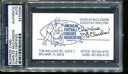 Charlie Mac McClendon Signed Business Card Auto LSU 83700560