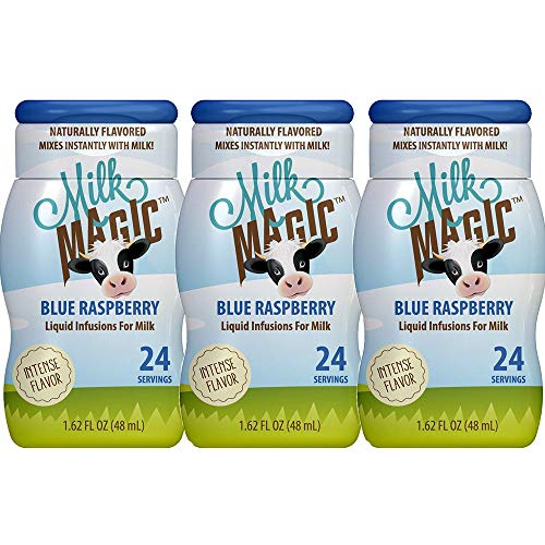 Milk Magic, Liquid Milk Infusions Flavor Enhancer, 3 pack - 1.62oz each, Blue Raspberry ()
