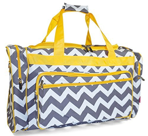 N.Gil Pink Blue Multicolor Chevron Owl Duffle Bags - (Duffle Bags For Girls)
