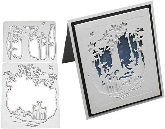 Forest Deer Metal Cutting Dies Stencil For DIY Scrapbook Album Stamp Paper Card