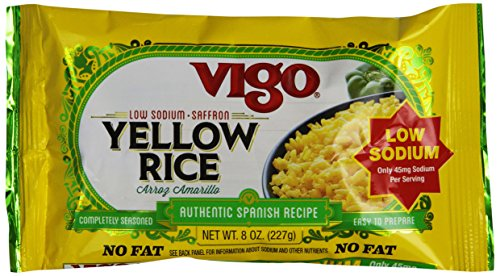 Vigo Low Sodium Yellow Rice, 8-Ounce (Pack of 12)