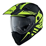 Caberg X-Trace Motorcycle Dual Adventure Enduro Helmet Lux Matt Black Yellow L