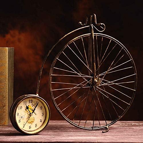 古い錬鉄製自転車時計家の装飾クリエイティブ芸術工芸品40 * 43 CM 作りがいい