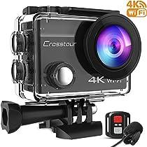 Crosstour 水中カメラ アクションカメラ 4K高画質2000万画素 webカ...