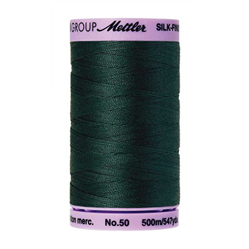 Mettler Silk-Finish Solid Cotton Thread, 547 yd/500m, Bayberry (Acrylic Thread Cotton)