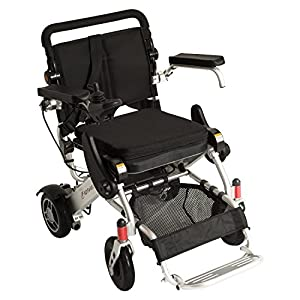 F KD FoldLite Lightweight Portable Folding Electric Power Wheelchair, with High Solid CNC Front Fork,Supports up to 253 lbs, 2003 by F KD FoldLite