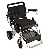 F KD FoldLite Lightweight Portable Folding Electric Power Wheelchair, with High Solid CNC Front Fork,Supports up to 253 lbs, 2003