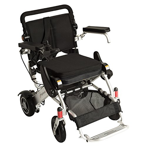 F KD FoldLite Lightweight Portable Folding Electric Power Wheelchair, with High Solid CNC Front Fork,Supports up to 253 lbs, - Power Chair Electric