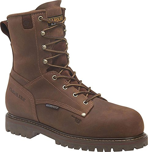 Carolina Mens Safety Boots - Carolina Non-Metallic Waterproof 800 Gram Thins Safety Boot (9 3E, Cigar)
