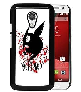 AZE Beautiful Fashion Akame ga Kill Night Raid Black Case Cover For Moto G 2nd gen