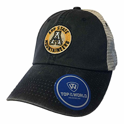 Top of the World Appalachian State Mountaineers TOW Haven Mesh Adj. Snapback Slouch Hat Cap