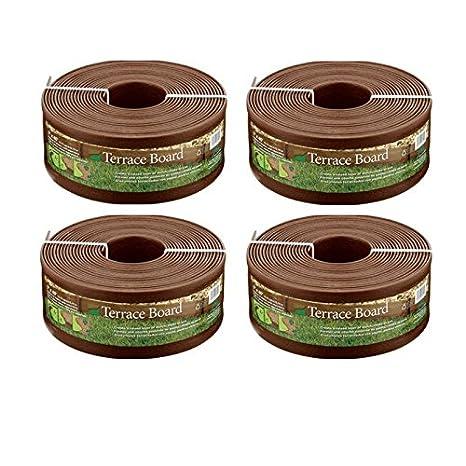 Amazon.com : Master Mark Plastics 95340 Terrace Board Landscape Edging  Coil, 5 Inch X 40 Foot, Brown : Lawn Edging : Garden U0026 Outdoor