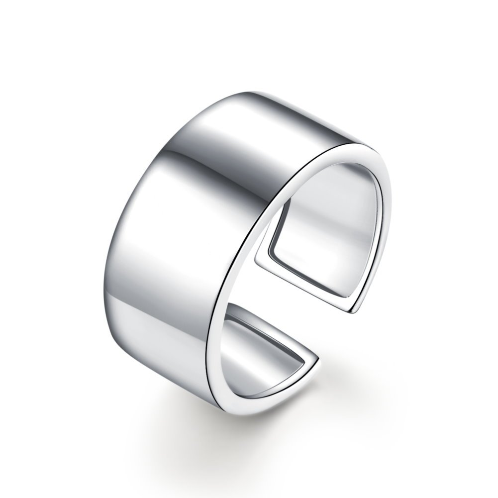 Kokoma 9mm Stacking Ring Adjustable Above Knuckle Open Toe Finger Band (Small(Size 5-6.5))